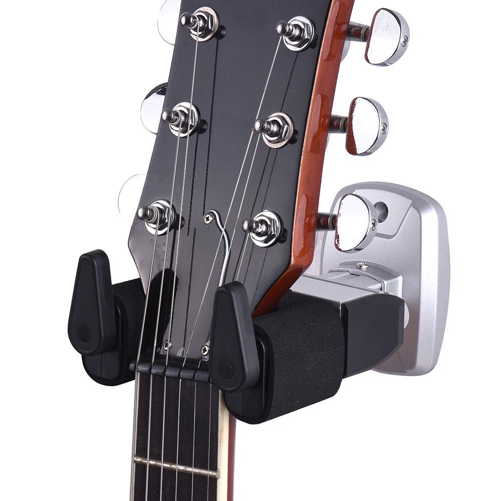 Level Durable Gancho suspensi/ón de la Guitarra de Montaje en Pared Estante del Soporte Soporte de la Guitarra Baja de Accesorios