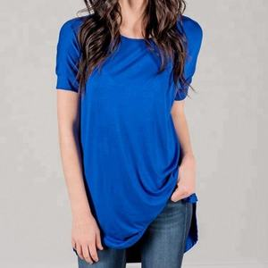 Short sleeve plain tunic tops long ,tunic long for women,dressy tunic tops