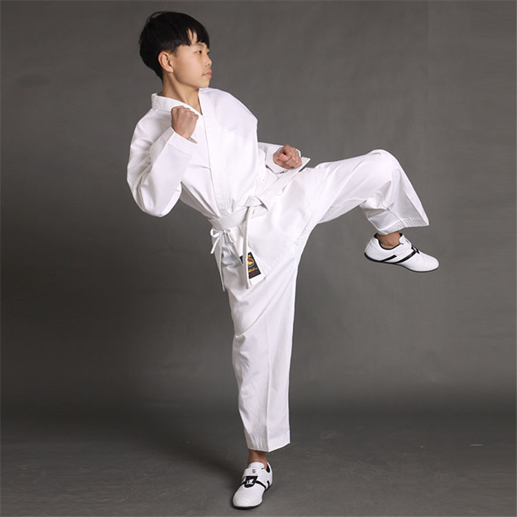 WKF approved high quality white karate suit for training comfortable karate uniform