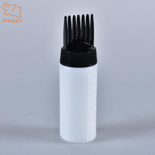 Empty 50 ml hair dye comb applicator HDPE bottle
