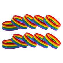 LGBT Custom Gay pride Asexual Bisexual Pansexual Rainbow Flag Silicone Rubber Bracelets Sports Wrist Band