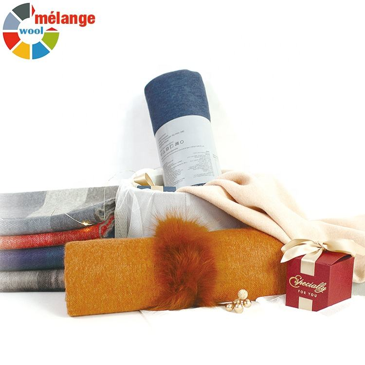 mens winter melange color wool cashmere pashmina scarf shawl and for women
