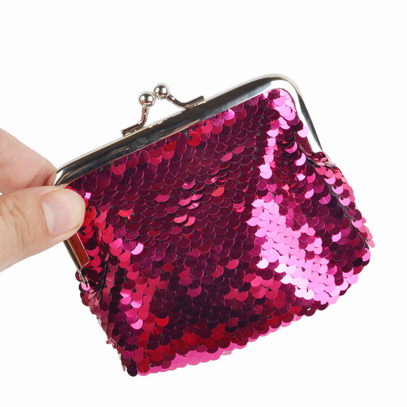 New Scale Cute Coin Purse for Girl Sequin Coin Wallet Change Card Bag Key Pouch Mini Wallet