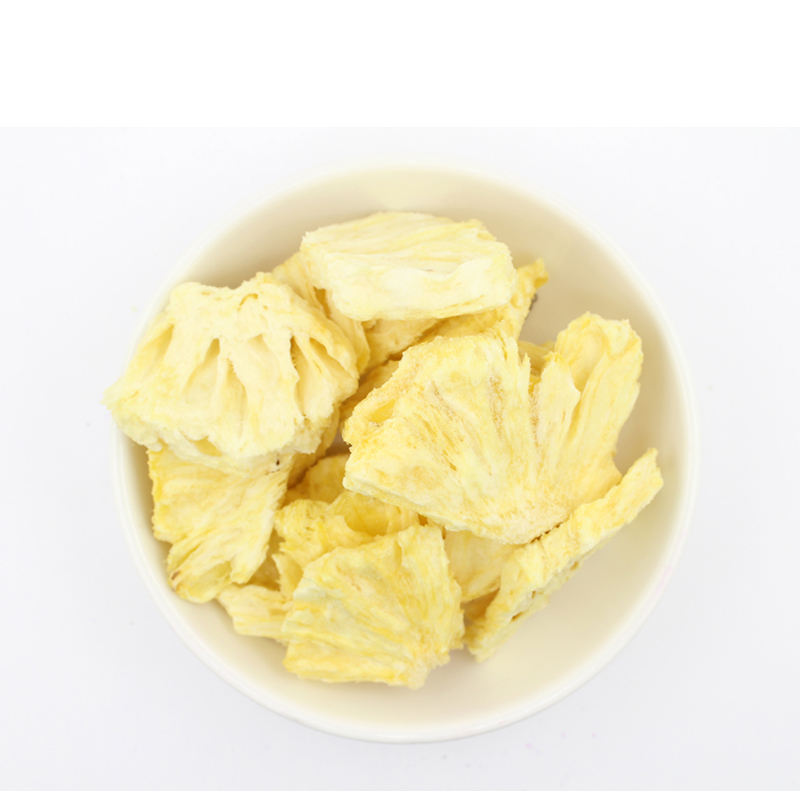 Lujia Freeze Dry Chunks FD dices cube slice organic no milk freeze-dried fruit powder chips freeze dried pineapple