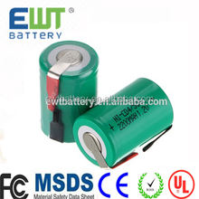 Professional 1.2v ni cd battery 2200 1200 1000mah ni-cd 4/5 sc nicd sub c rechargeable battery cell