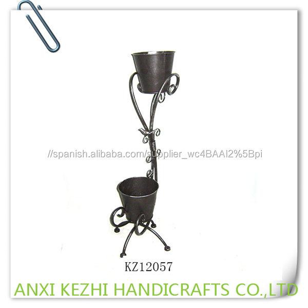 KZ12057 Plantadores Jardín Artesanía 2 Macetas de Metal
