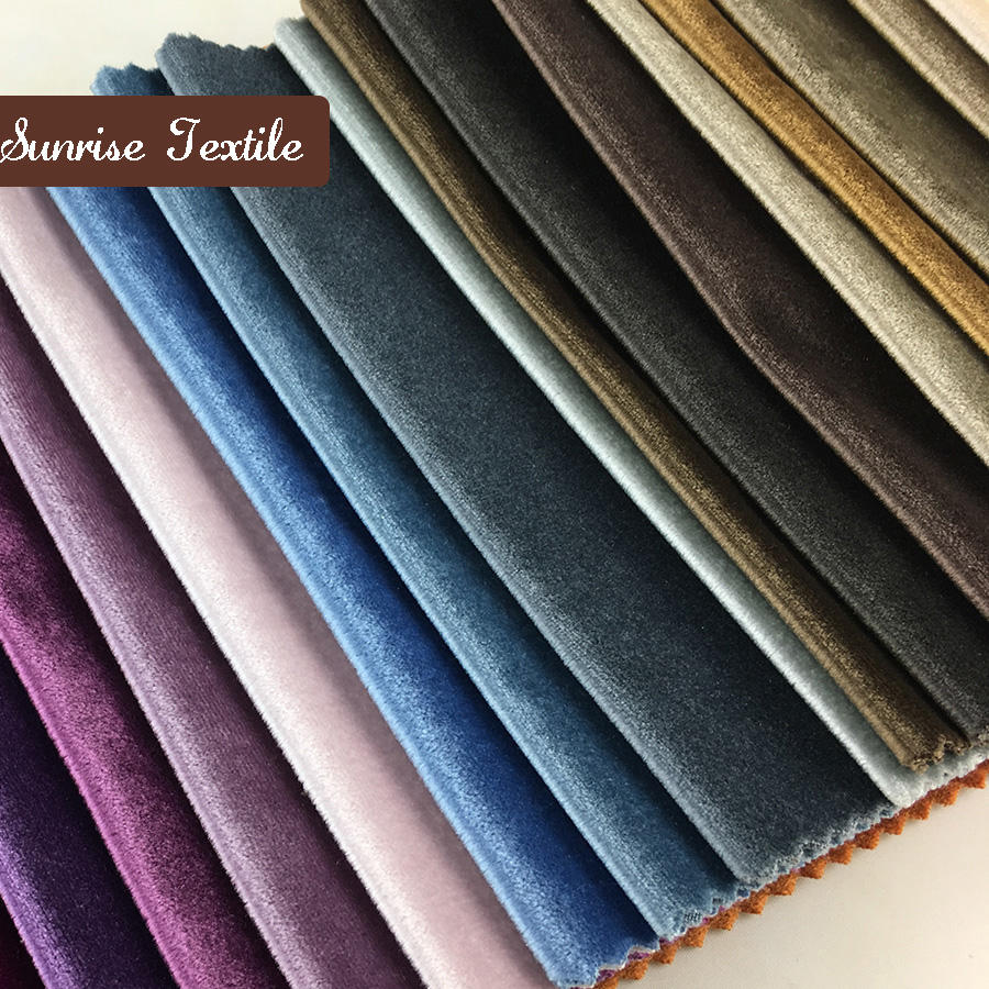 Durability Velvet Brushed Wholesale, Velour Sofa Upholstery Fabric from China