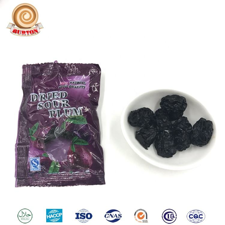 Sour preserved black plum fruit Chinese plum