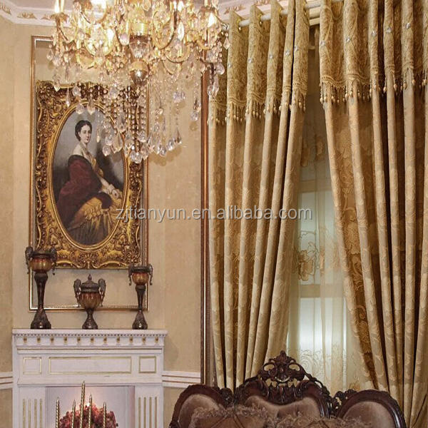 European Style Yarn Dyed Jacquard Luxury Design Curtain
