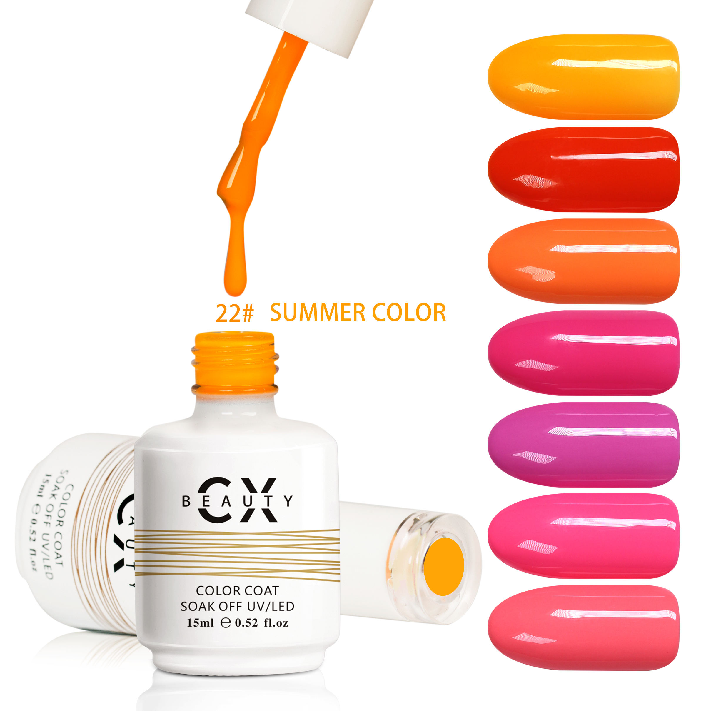 CX BEAUTY Free Sample Private Label Wholesale Annual Color UV/LED Nail Gel Polish