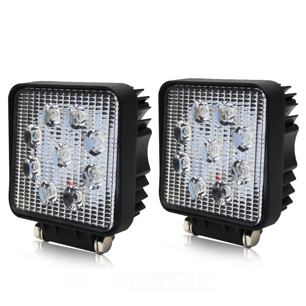 4.3 Inch UTV 12 Volt 4x4 Project Vehicle ATV Truck 27W Led Work Light Lamp
