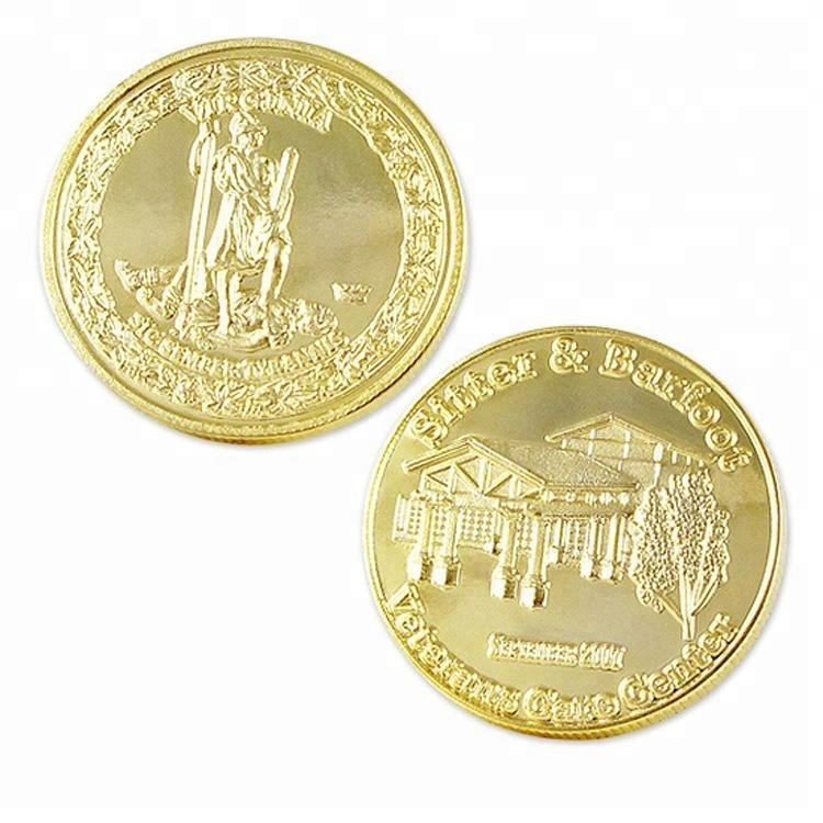 Wholesale Custom Make Your Own Souvenir Gold Coin For Sale