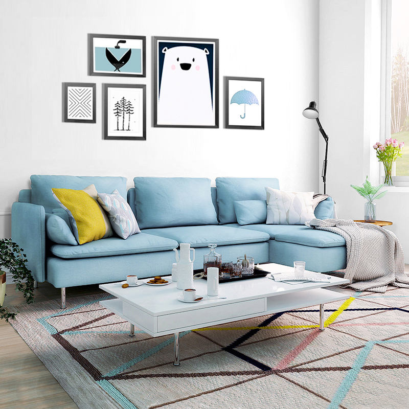 Specific wear sectional material and living room sofa fabric sofa