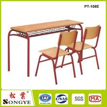 Seater Modern Combo School Desk Wooden Bench And Chairs For Student
