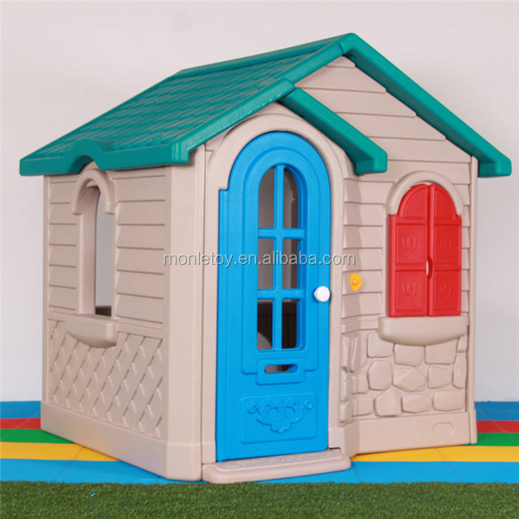 Hot sale plastic material quality house kids Play House for Country Style indoor kid playhouse