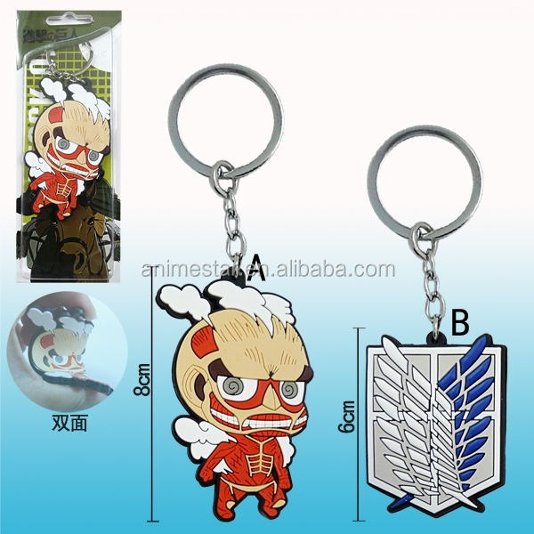 Attack on Titan Anime Keychain, Cosplay Keychains