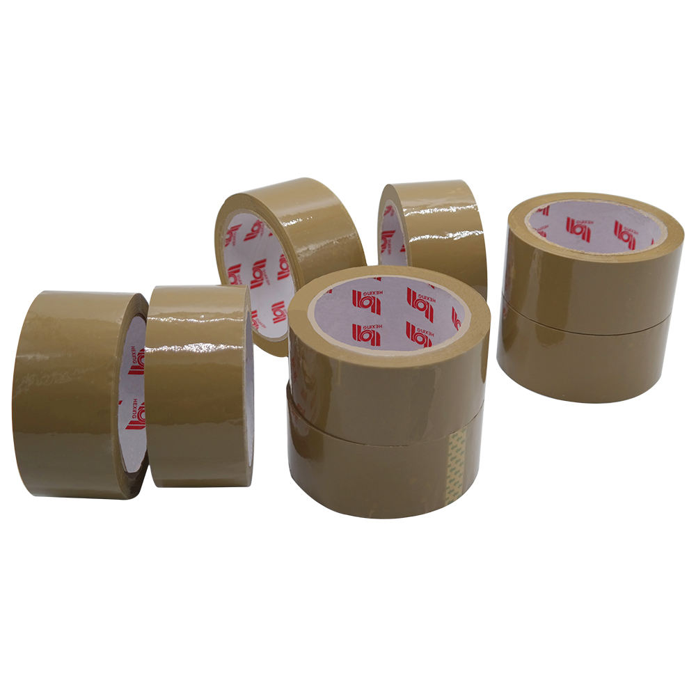 6 ROLLS BROWN BUFF STRONG PERSISTANT TAPE PACKAGING TAPE BOX SEALING 48MM X 50M