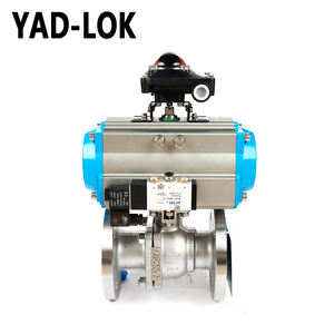 YAD-LOK 3000PSI High Pressure Pneumatic Actuator Globe Ball Valve