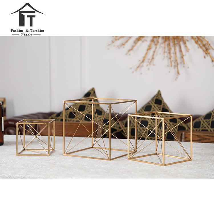 Modern living room decoration christmas ornament office home decor cube sculpture tabletop decor