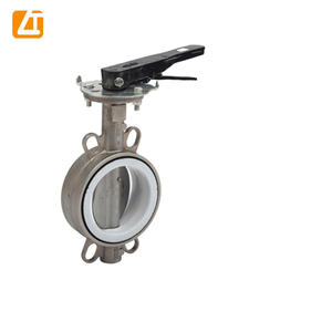 dn400 wafer type duplex stainless steel butterfly valve