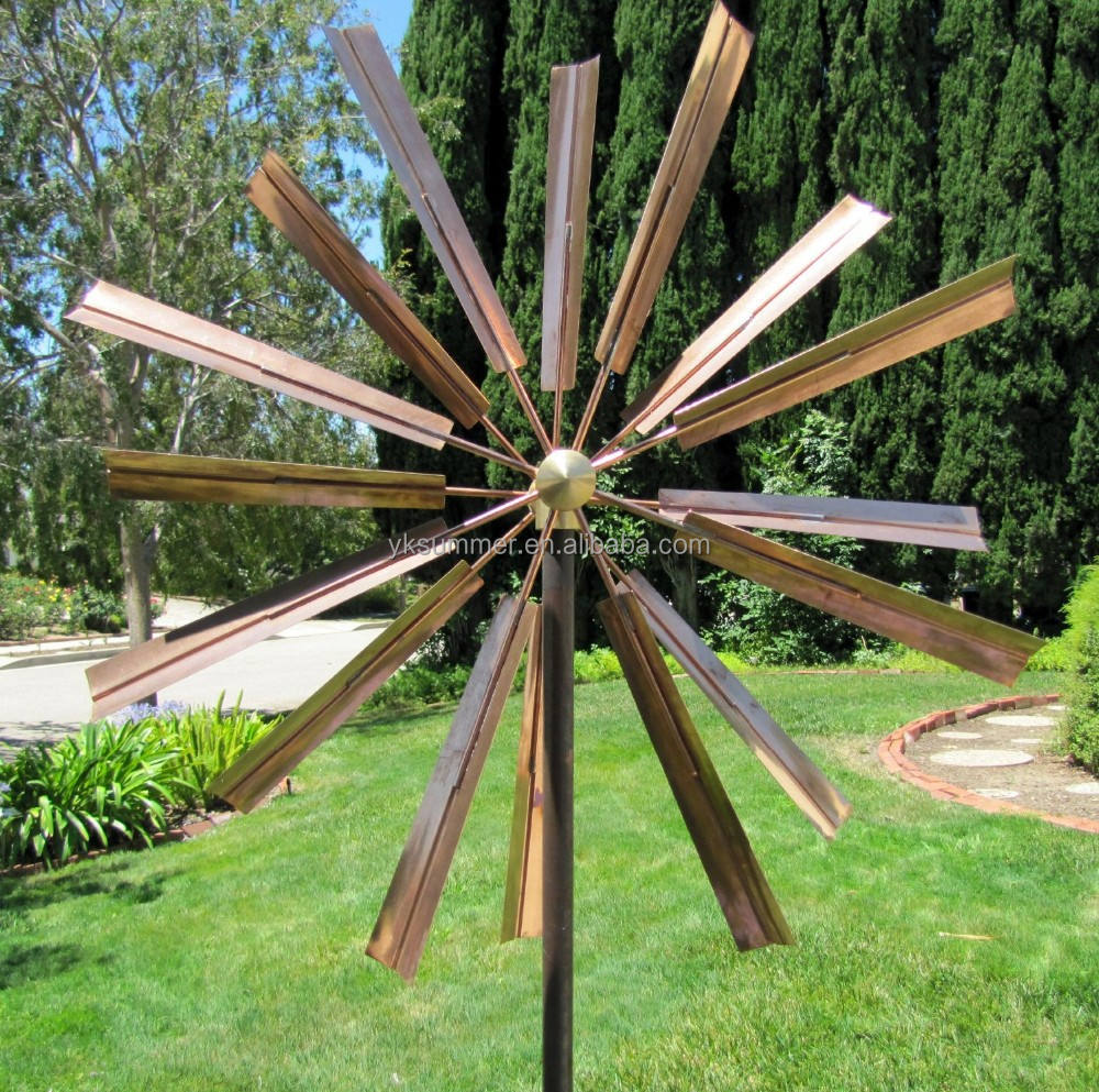 Hot-sale copper kinetic wind sculpture