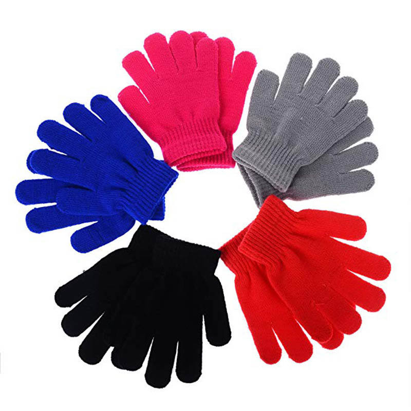 Winter Warm Stretchy Knitted Magic Gloves Girl Boy Kids Gloves Child Gloves