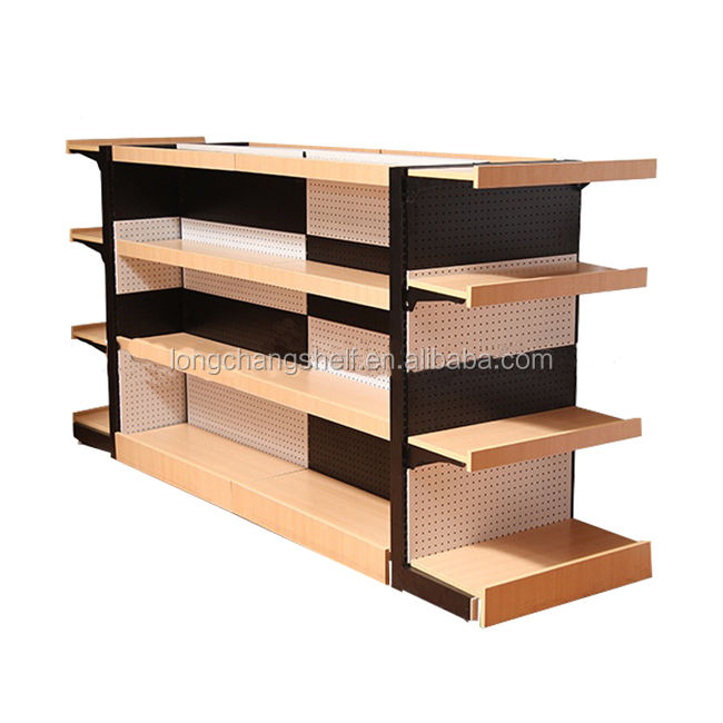 Multifunctional Store Display Equipment Black And White Display Shelf Supermarket System Guangzhou