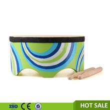 Wooden Drum Cheap Floor Drum with Sticks for Kids Factory Price