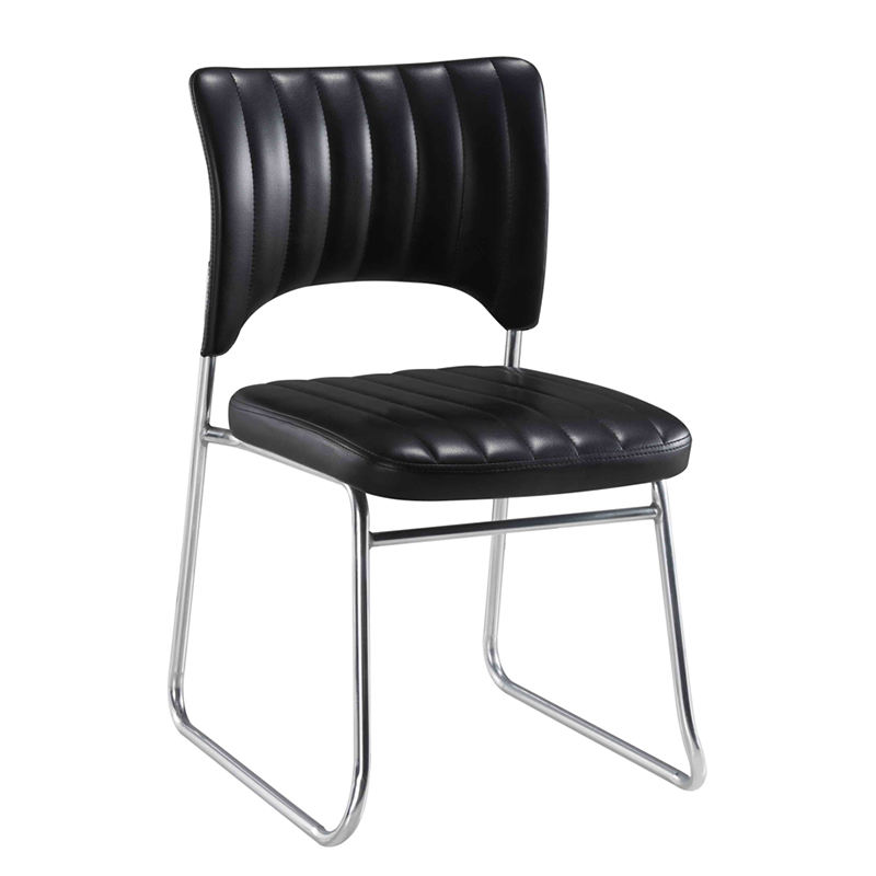 Wholesale Stacking Conference Chair Meeting Room Stackable PU Leather Visitor Chair