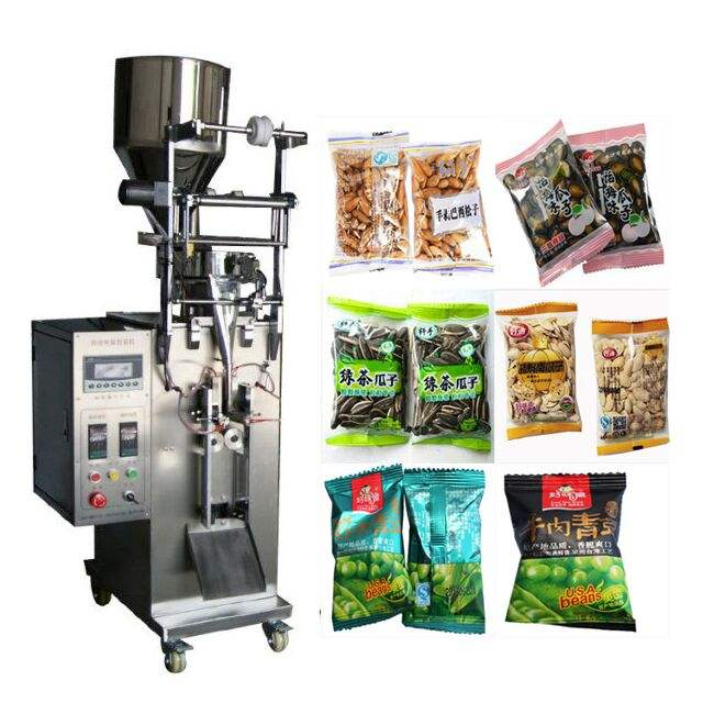 Automatic Snack Food Sunflower Seed Peanut Plastic Bag Packaging Sealing Bean Packing Machine With date Printing