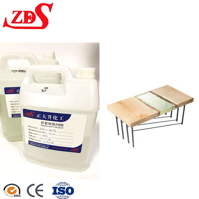 Epoxy Resin Glue Wood Table Topcoat Glass Finish Epoxy Resin and Hardner