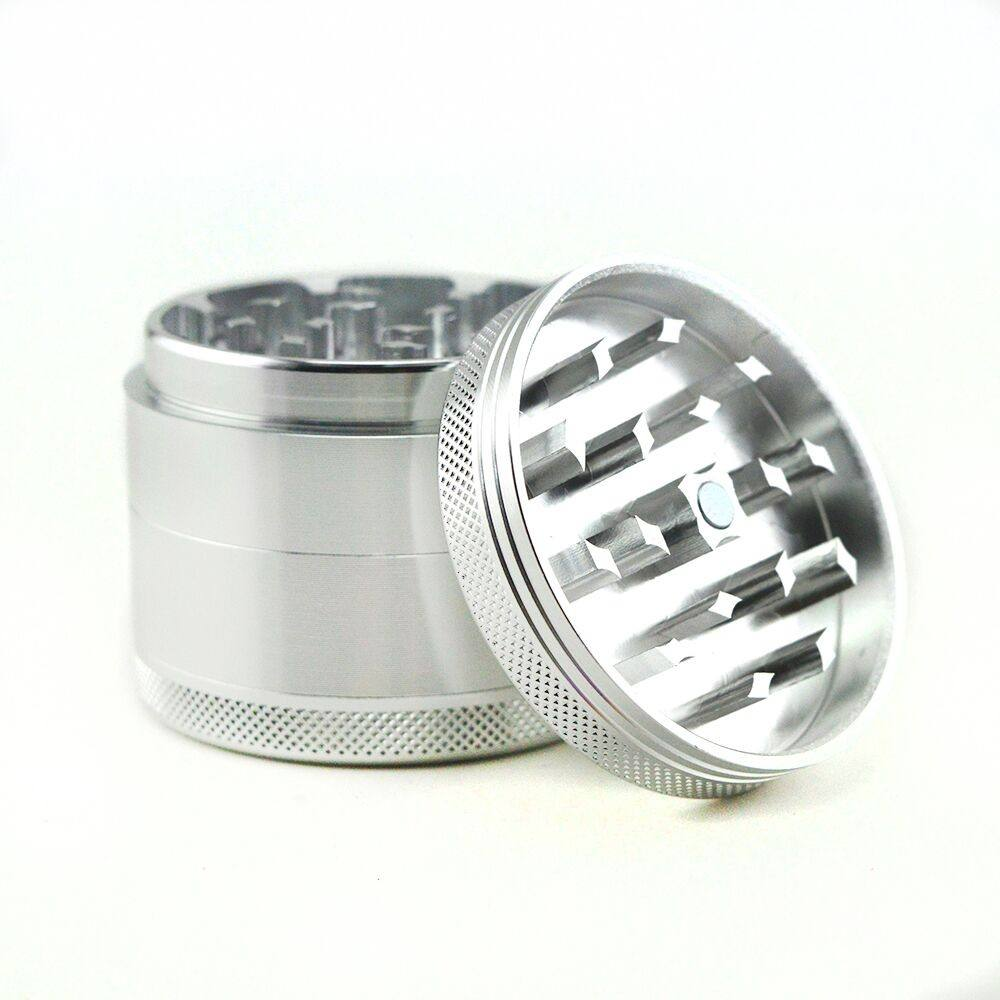 VAgrinders, 2.2inch 4part custom cnc aluminum tobacco weed spice herb grinder with you logo engraved.