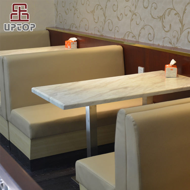 (SP-CS318) Modern cafeteria fast food seating restaurant sofa booth