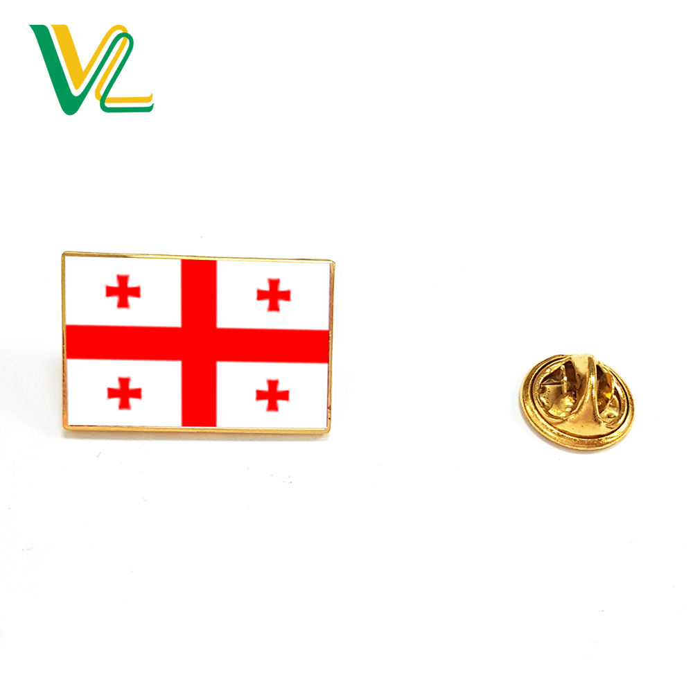 OEM high quality Die Struck Georgia National for Souvenir Emblem custom logo metal pins