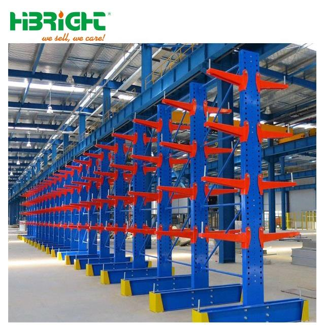 Warehouse industrial heavy duty storage metal cantilever racking