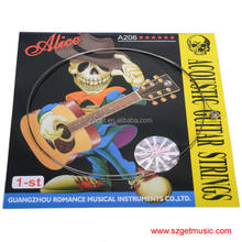 Acoustic Guitar Stainless Steel String Alice A206SL .011 Inch 0.28 mm 1st E First Single String Encordoamento