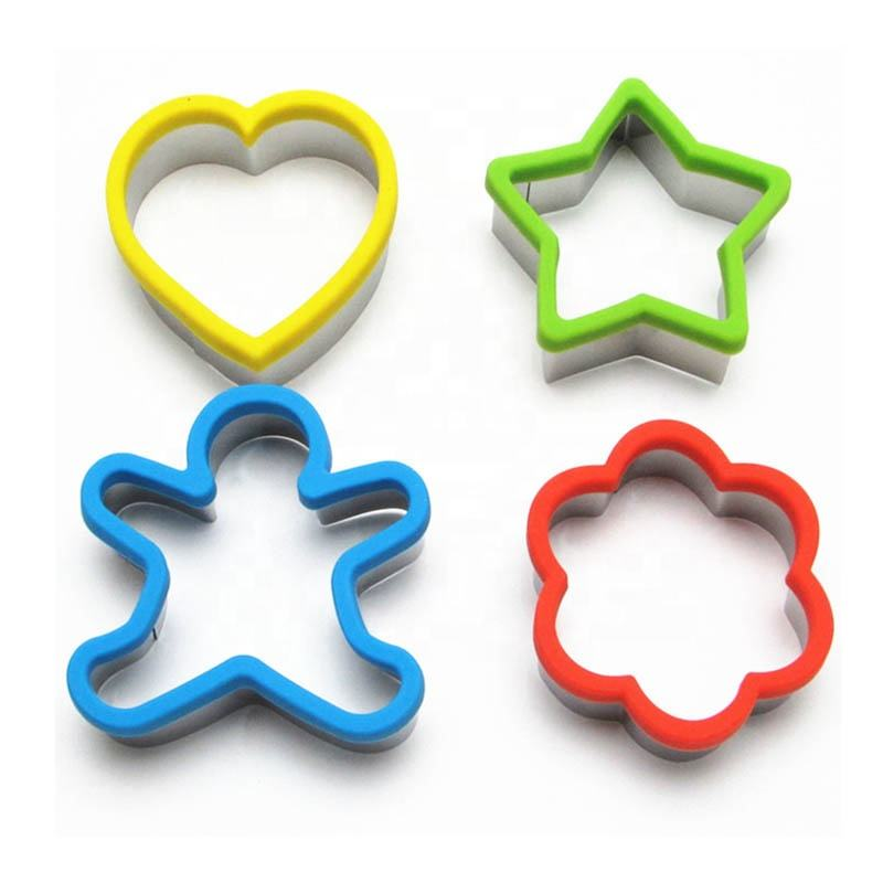 Custom Biscuit Baking Mold Heart Gingerbread Christmas Star Shape Stainless Steel Cookie Cutter Set