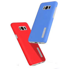 Antishock solid color rubber PC and TPU 2in1 armor case phone cover for Samsung galaxy S8 S8 plus case