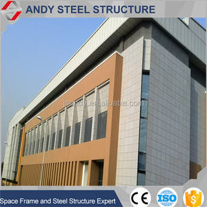 Culture Element Design Al-Mg-Mn Curtain Wall Steel Structure Space Truss Roof Indoor Stadium For University Building