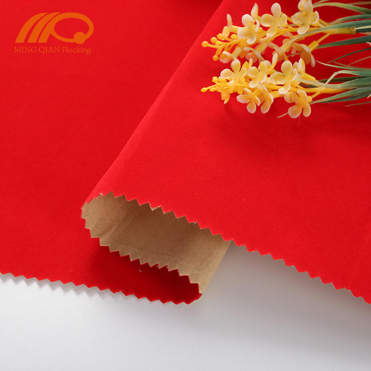 Polyester Flock Self Adhesive Velvet Fabric For Jewelry Box