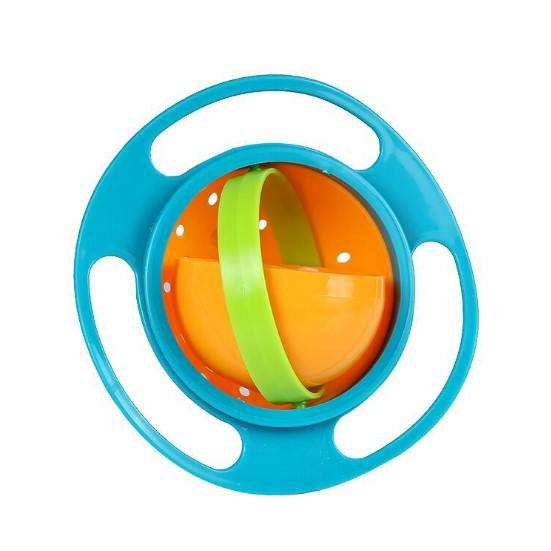 360 Rotate Gyro kids Bowl, Non Spill Baby Feeding Bowl