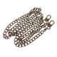 Online Wholesale Metal Single Purse Link Chain With Snap Hook For Bag-Nickle Color And Gunmetal Available