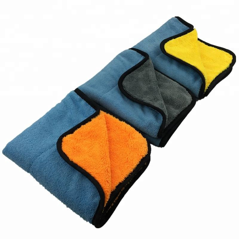 700GSM 40x40cm Double-sided Microfiber Cloth Car Cleaning Buffing Cloth Detailing Towel
