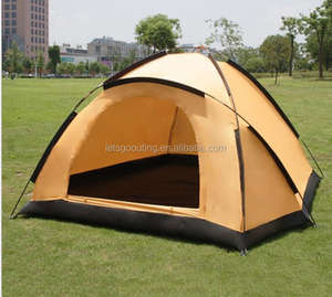 Single Layer 2-3 Person Camping Tent 4 Season Backpacking Tent Waterproof Lightweight Outdoor Shelter(HT6058-2)