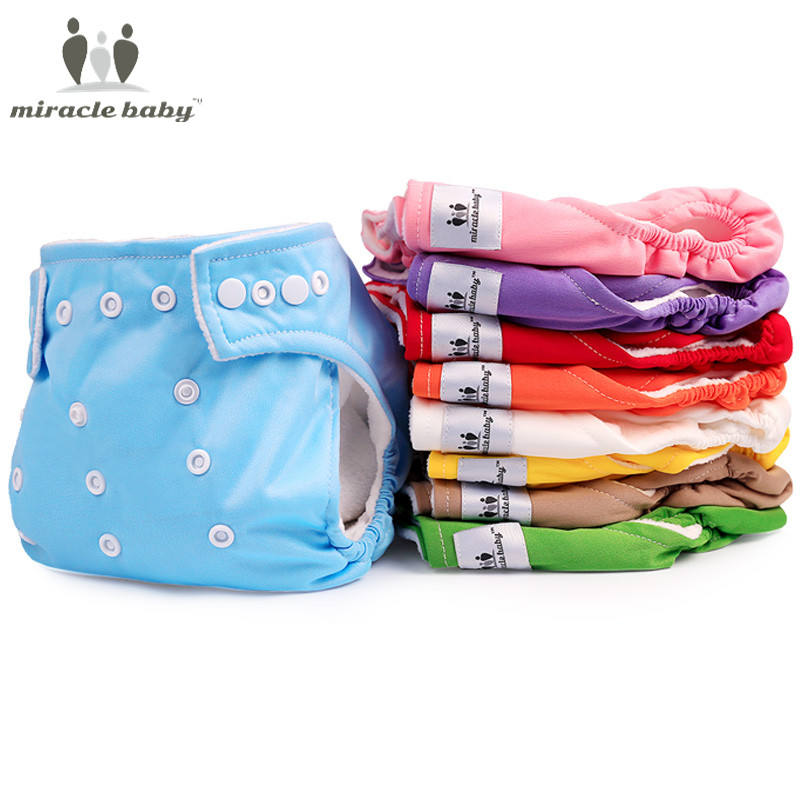 Miracle Baby Cloth Diapers Pants Reusable Pocket Diapers Adjustable for Baby Waterproof Underwear with One Insert Diaper