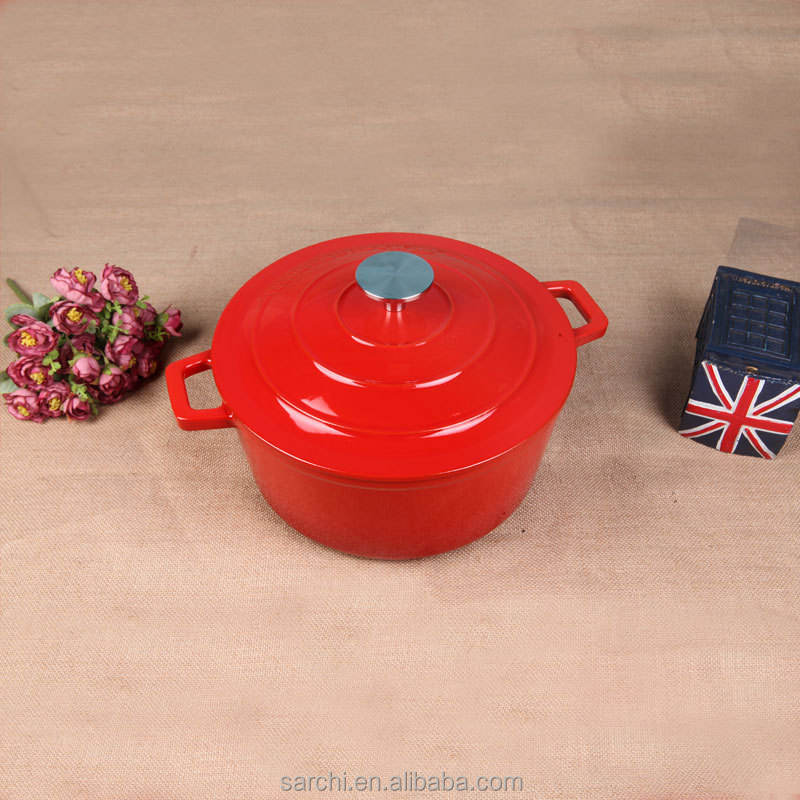 New customized iron enameled small size dishes pot