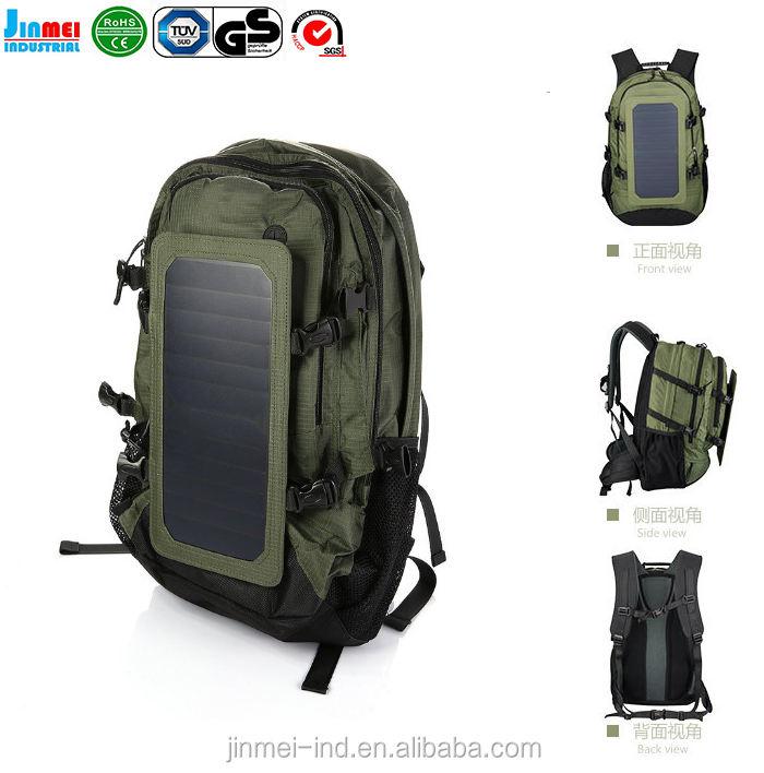중국 공장 충전식 휴대용 야외 여행 캠핑 태양 태양 전지 패널 충전기 JM-B004