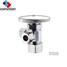 3 way brass angle valve for toilet and bathroom accessory kitchen and lavatory angle stop valve
