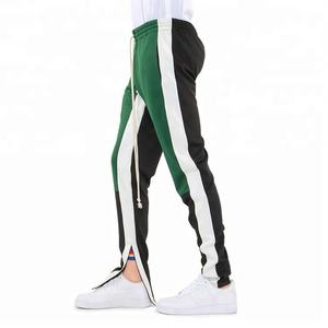 OEM Service Adults Colors Striped Track Pants Men Jogger Pants with Zipped Ankle