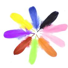 Child DIY Use Soft Goose Feather Dyed Red 6-8inch/15-20cm 100pcs Carnival Diy Costume Feather Headdress